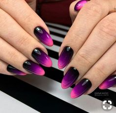 How about gradient glossy purple nails? a New Manicure for Fall: Nail Designs - Pretty Designshalloween Ombre Nail Designs, Winter Nail Designs, Simple Nail Designs, Acrylic Nail Designs, Nail Art Designs, Nails Design, Gel Designs, Cute Nails, Pretty Nails