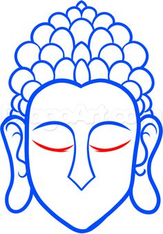 how to draw buddha easy step 5