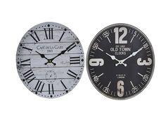 relojes de blanco y negro madera numero romano y numero normal https://www.catayhome.es/categoria/relojes/