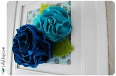 Wire ribbon flowers diy... http://www.lollychops.com/lollychops/2010/03/wall-flowers-week-too-much-teal-tuesday.html