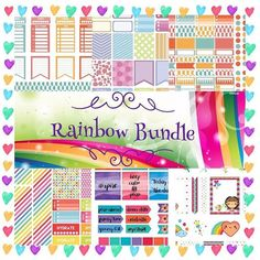 SNEAK PEEK of the RAINBOW themed #colorcobundle this month! ONLY A FEW MORE DAYS LEFT! @letspaperup made this amazing collage!  Go and give her some love!  - - - - - - - - - - @faryeplans @brittneyndesigns @sweet_caress @printstickshop @letspaperup @simplybeautifulplans @yupiyeipapers @violetpaperprints @colorcodesigns - - - - - - - - - - #Etsy #etsystore #erincondrenlifeplanner #printable #etsyshop #stationeryaddict #silhouette #planner #plannerobssessed #eclp #planneraddict #plannerlove…