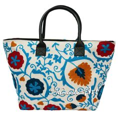 Indian Cotton Embroidery Woman Suzani Art Tote & Shoulder Handbag Beach Boho Bag #Unbranded #TotesShoppers