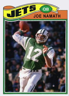 Mason collects football trading cards - I've found a lot at Walgreens in the toy section Football Trading Cards, Football Cards, Nfl Football, Football Helmets, Baseball Cards, Joe Namath, American Football League, Football Conference, Sports Figures