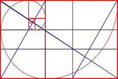 Triangle, Spiral & Rectangle Golden Mean