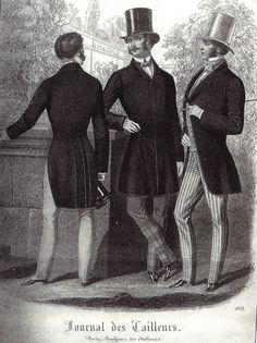 A History of Checkered Trousers - Les Incroyables - The Cutter and Tailor--And here are a couple of checks which appear either only at the bottom of the trousers (left) or exclusively on the top and bottom (right). This illustration is dated May, 1850s Fashion, Edwardian Fashion, Vintage Fashion, Looks Vintage, Vintage Men, Checkered Trousers, Steampunk Festival, 19th Century Fashion, Steampunk Movies