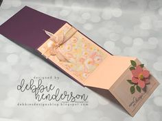 Debbie's Designs: Step It Up Sunday with the Perennial Essence Suite & Video. Blender Pen, Easel Cards, Mothers Day Cards, Card Tutorials, Paper Pumpkin, Card Kit, Folded Cards, Anniversary Cards, Paper Design