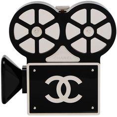 CHANEL Rome 2016 Movie Camera Minaudière Handbag Seen On Mira Duma... ($24,715) ❤ liked on Polyvore featuring bags, handbags, clutches, chanel pochette, handbags clutches, chanel, hand bags and handbag purse