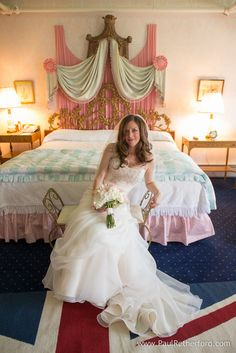 Margaret's Garden Wedding flowers on Mackinac Island at the Grand Hotel photo by Paul Retherford