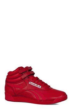 e7e2ebf8c4c Reebok Shoes Women s Freestyle Hi Spirit in Excellent Red White Size ...