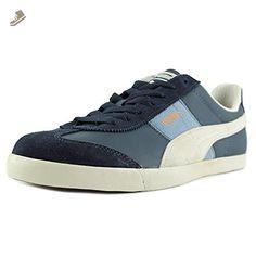 PUMA Roma LP Cham Fashion Sneaker,New Navy/White/Brown,14 US