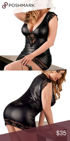 Plus size wet look lingerie Size 3x true to size wetlook dress tried on but too big Dresses
