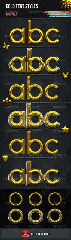 Gold Glamour Text Styles