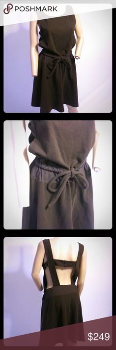 """See by Chloe Waffle Apron Back Jumper Dress See by Chloe Waffle Apron Back Dress  Size 44, US 8  New with tag  100% Cotton, ties at waist  Bust across the front 16""""  Length 38""""   If you have any questions please ask! Chloe Dresses"""