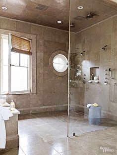 walk through shower unique master shower with extensive body