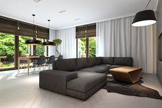 AVANGARDE oak table. Size: 200+2x50/90/76. Colour: Tobacco. - www.miloni.pl/en MILONI: wooden table, oak table, natural wood table, table design, furniture design, modern table