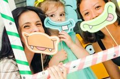 "Cool idea for making ""little monster"" birthday photo props by @Kara's Party Ideas!"