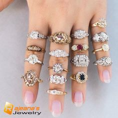Rings Simple Choose your favorite vintage engagement ring from Victor Barboné Jewelry! Engagement Rings On Finger, Cheap Engagement Rings, Engagement Ring Settings, Vintage Engagement Rings, Diamond Engagement Rings, Diamond Rings, Ring Finger, Halo Engagement, Diamond Jewelry