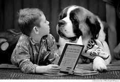 Animals Reading Books   ll take my books with pages » reading with a dog