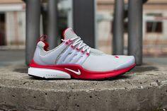 Nike Air Presto: Neutral Grey & Uni Red