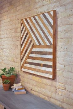 Reclaimed Wood Wall Art, Mixed Banner, Pattern, Geometric