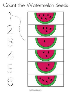 Count the Watermelon Seeds Coloring Page - Twisty Noodle Kindergarten Learning, Preschool Learning Activities, Preschool Activities, Alphabet Activities, Preschool Prep, Kindergarten Readiness, Preschool Alphabet, Preschool Writing, Alphabet Crafts