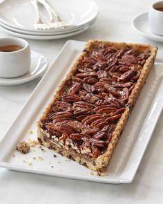Chocolate-Maple Pecan Tart…Beautiful and Delicious.  Thanks Martha!