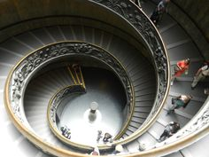 A great photo of a great staircase in the Vatican City, Italy appearing on Frommer's website.  Photo by Cardgio~