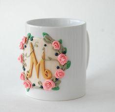 Image result for polymer clay mug decor