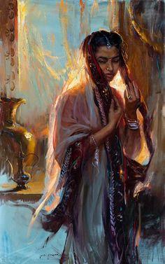 Jewel by Dan Gerhartz, Oil, 48 x 30 Classical Art, Classic Art, Art Painting, Figure Painting, Victorian Art, Female Art, Renaissance Art Paintings, Pretty Art, Aesthetic Art