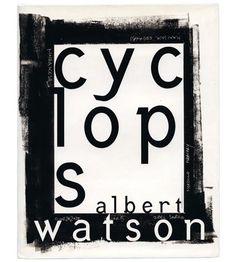 David carson cyclops for albert watson Book Cover Art, Book Cover Design, Book Design, Book Covers, Artistic Photography, Book Photography, David Carson Design, David Rudnick, Graphic Art