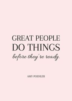 Don't wait, just do it!
