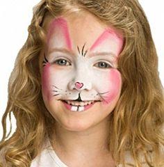 Cara pintada de conejo para niñas