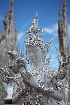 Goddess @ Wat Rong Khun, Chiang Rai, Thailand