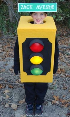Traffic Light Halloween Costume Handmade Street Working Lights Unique Hand Made…
