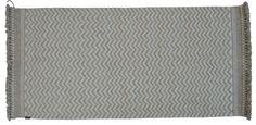 TIKAU hand made wool carpet Zick Zack, beige/natural white