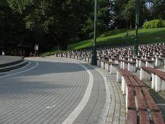 #magiaswiat #podróż #zwiedzanie #polska #blog #europa #jaworze #park #amfiteatr # teznie # fontanna #ławeczka Amalfi, Sidewalk, Park, Blog, Europe, Side Walkway, Walkway, Parks, Blogging