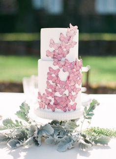pink butterfly wedding cake maggie austin