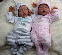 Custom order Twin A or Twin B Reborn baby girl or boy. From