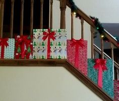 To go with my PRESENTS Christmas theme this year, I came up with this decoration for my staircase. I love it and It will definitely make a statement with my other...