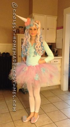 Cute and Sassy Homemade Cotton Candy Costume...