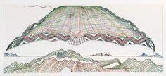 John Bevan Ford, Te Hono (The Connections) - Auckland Art Gallery Auckland Art Gallery, Nz Art, Maori Art, Castle In The Sky, Landscape Artwork, Graphic Patterns, Medium Art, Art Inspo, Contemporary Art