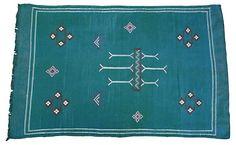 "Moroccan Cactus Silk Rug, 4'7"" x   3'   Saturdays at the Flea    One Kings Lane"