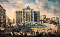 Giovanni Paolo Pannini - The Trevi Fountain in Rome