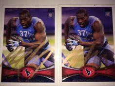 Whitney Mercilus Houston Texans NFL RC ROOKIE 2 football card auto autograph LOT