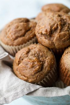 Flourless banana carrot muffins that are so tender and flavorful, you'd never know they're made without flour, oil, or refined sugar. Gluten free. Healthy.