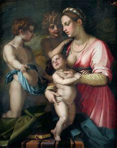 Caridad Óleo sobre lienzo Autor: Andrea del Sarto (1486-1531)