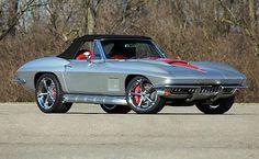 C2 corvette silver with black stripes. Stingray theme