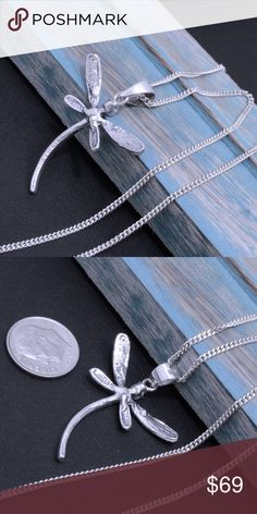 """Sterling Silver Pendant & Chain Chain size 16 inches. Stamped 925. Pendant Hangs: 40mm tall. Stamped """"925"""" on hoop. The image is of the actual article that is being sold. Sterling silver is an alloy of silver containing 92.5% by mass of silver and 7.5% by mass of other metal. The fitness on this ring is 950. All my jewelry is solid sterling silver. I do not plate. crafted in Taxco, Mexico. Jewelry Necklaces"""