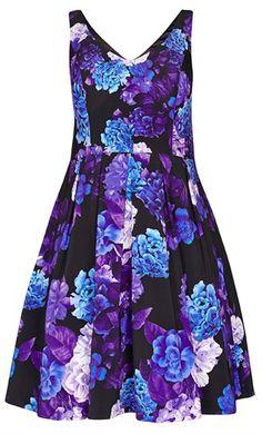 City Chic Hydrangea Dress - Women's Plus Size Fashion - City Chic Your Leading Plus Size Fashion Destination