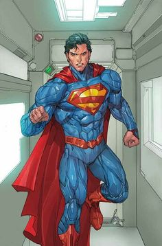 With Superman the Man Of Steel will get his current costume (seen below) tweaked along with new powers and new enemies. So, here it is: The above image by John Romita Jr. will serve as the cover for Superman It appears that the character will be. Marvel Comics, Action Comics, Hq Marvel, Dc Comics Art, Superman Comic, Superman News, Superman Family, Superman Stuff, Superman Artwork